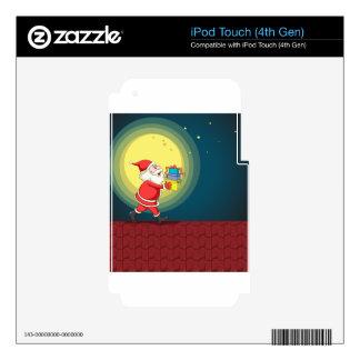 Papá Noel y regalos iPod Touch 4G Skins