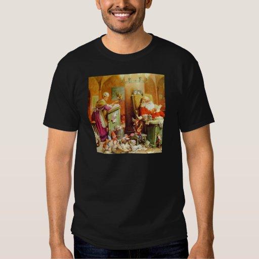 Papá Noel y señora Claus en la sala de correo de Playeras