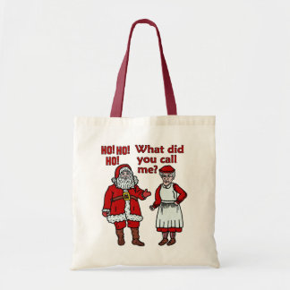 Papá Noel y señora divertidos Christmas Bolsa Tela Barata