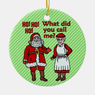 Papá Noel y señora divertidos Christmas Ornamento De Reyes Magos
