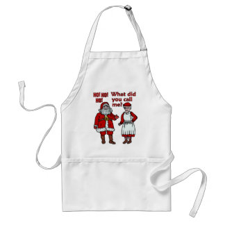 Papá Noel y señora divertidos Christmas Delantal