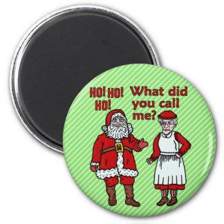 Papá Noel y señora divertidos Christmas Imán Redondo 5 Cm