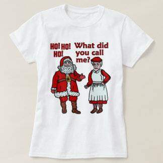 Papá Noel y señora divertidos Christmas Playera