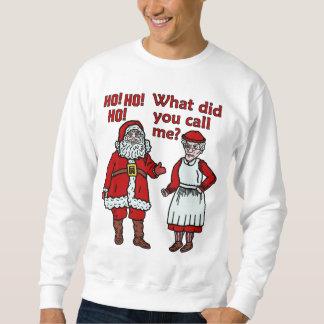 Papá Noel y señora divertidos Christmas Ugly Pull Over Sudadera