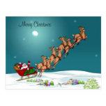 Papá Noel y su postal del reno