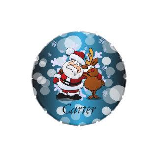 Papá Noel y su reno PAL Latas De Dulces