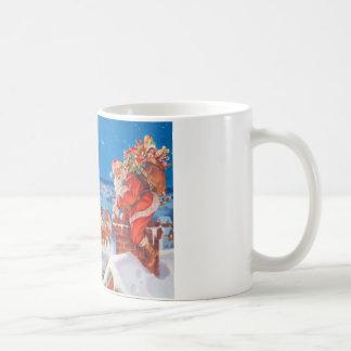 Papá Noel y su reno poderoso Taza Clásica