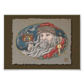 Papá Noel y tubo Impresiones Fotográficas