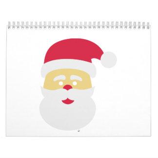 Papá Noel Calendario De Pared