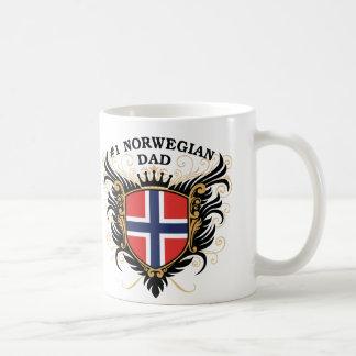 Papá noruego del número uno taza de café