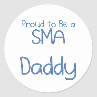 Papá o papá de SMA Pegatinas Redondas