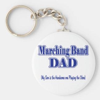 Papá Oboe de la banda Llavero Redondo Tipo Pin