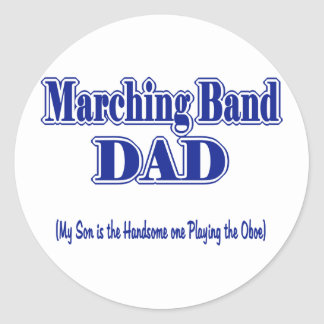 Papá Oboe de la banda Pegatina Redonda