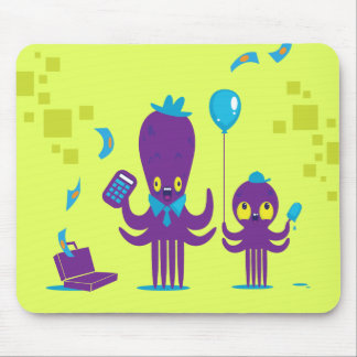 Papa Octopus Mouse Pad