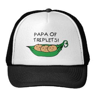 Papa of Triplets Pod Trucker Hat