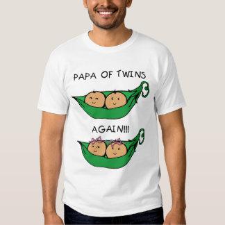 Papa of Twins Again T-Shirt