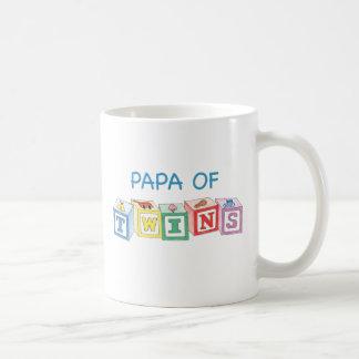 Papa  of Twins Blocks Coffee Mug