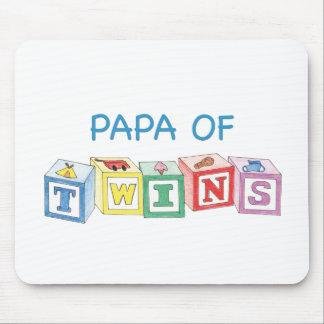 Papa  of Twins Blocks Mouse Pad