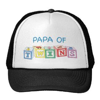 Papa  of Twins Blocks Trucker Hat