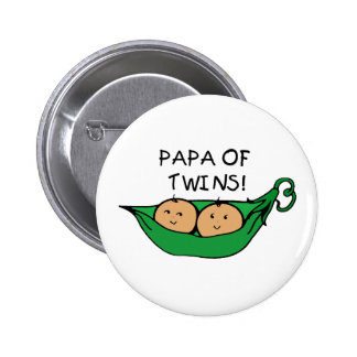Papa of Twins Pod Button