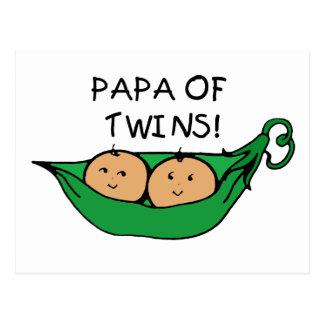 Papa of Twins Pod Postcard