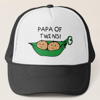 Papa of Twins Pod Trucker Hat