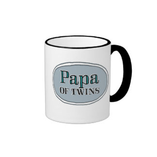 Papa of Twins Ringer Mug