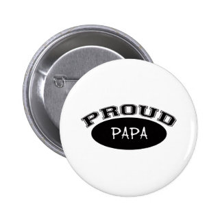 Papá orgullosa (negro) pins