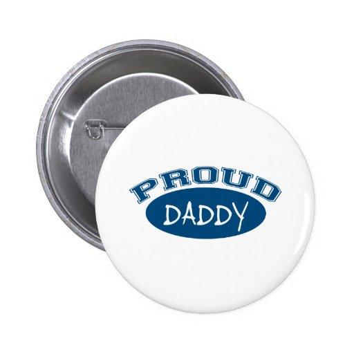 Papá orgulloso (azul) pin redondo 5 cm