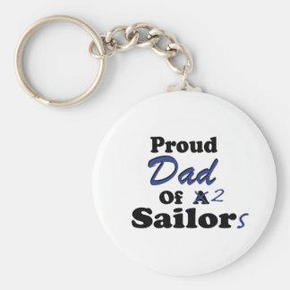 Papá orgulloso de 2 marineros llavero redondo tipo pin