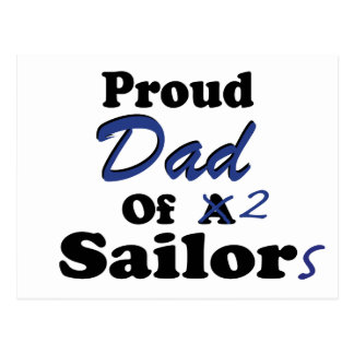 Papá orgulloso de 2 marineros postal