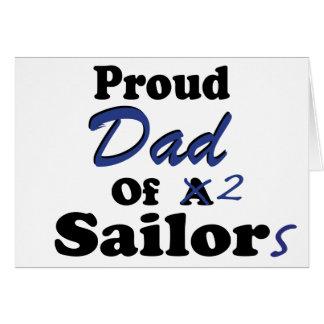 Papá orgulloso de 2 marineros tarjeta de felicitación