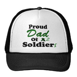 Papá orgulloso de 2 soldados gorro