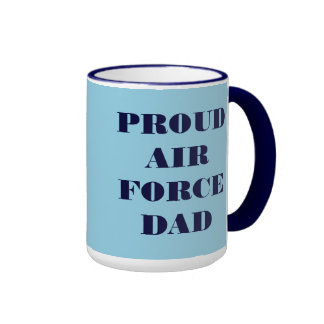 Papá orgulloso de la fuerza aérea de la taza