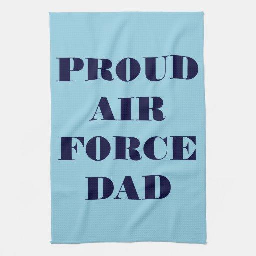 Papá orgulloso de la fuerza aérea de la toalla de