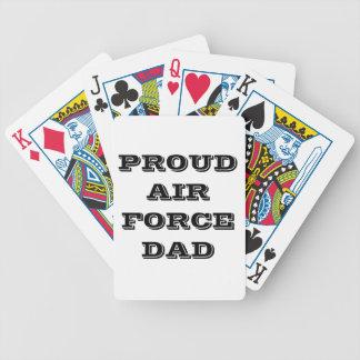 Papá orgulloso de la fuerza aérea de los naipes barajas