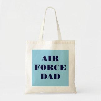 Papá orgulloso de la fuerza aérea del bolso bolsa de mano