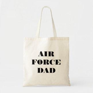 Papá orgulloso de la fuerza aérea del bolso bolsas