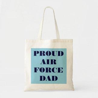 Papá orgulloso de la fuerza aérea del bolso bolsas de mano