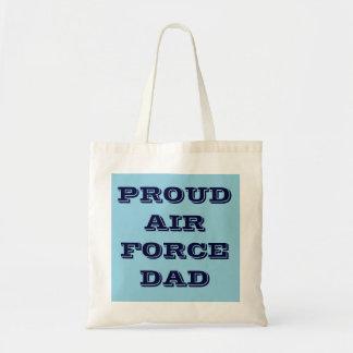 Papá orgulloso de la fuerza aérea del bolso bolsa tela barata