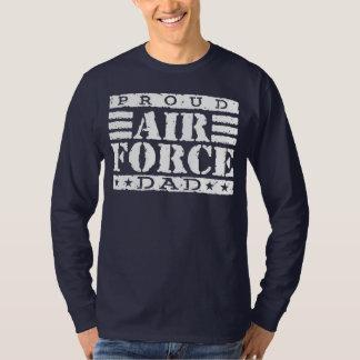 Papá orgulloso de la fuerza aérea playeras