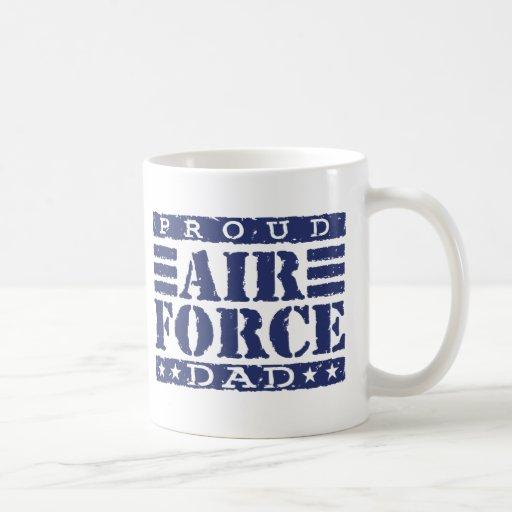 Papá orgulloso de la fuerza aérea tazas de café