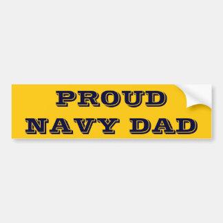 Papá orgulloso de la marina de guerra de la pegati pegatina para auto