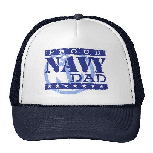 Papá orgulloso de la marina de guerra gorro