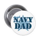 Papá orgulloso de la marina de guerra pin