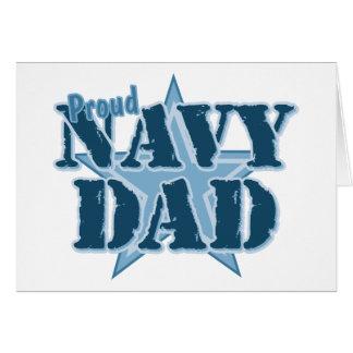 Papá orgulloso de la marina de guerra tarjeta de felicitación