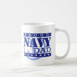 Papá orgulloso de la marina de guerra taza de café