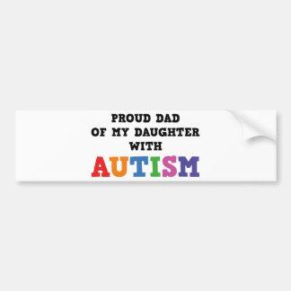 Papá orgulloso de mi hija con autismo pegatina para auto