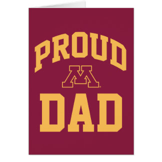 Papá orgulloso de Minnesota Tarjeta Pequeña