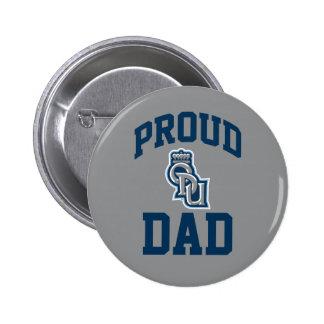 Papá orgulloso de ODU Pin Redondo De 2 Pulgadas